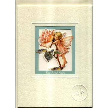 Rose fairy card with windows and envelope