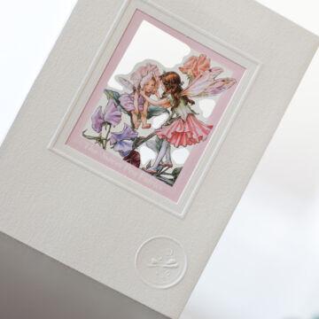Virágtündérkék  ablakos üdvözlőlap borítékkal