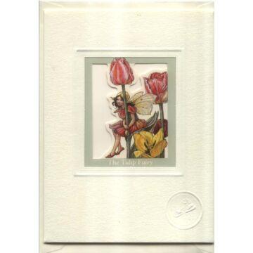 Tulipántündér  ablakos üdvözlőlap