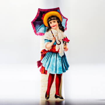 Girl with Sunumbrella bookmark