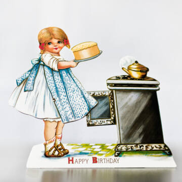 Tortasütőlány - változó képeslap