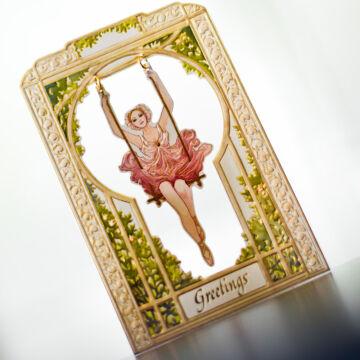 Balerina swinging card