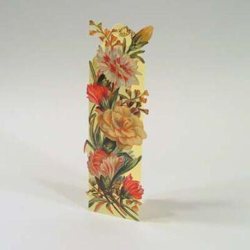 Virágos Könyvjelző - borítékkal