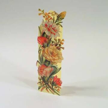 Flower bookmark with envelope