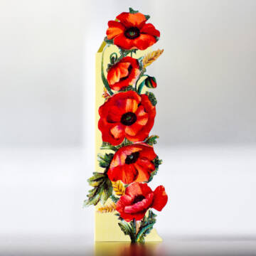 Red Poppy bookmark