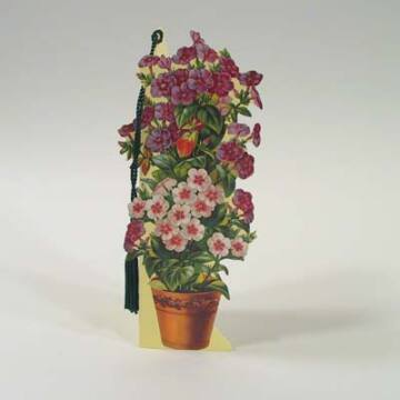 Potted flower bookmark