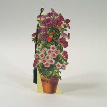 Cserepes virág könyvjelző