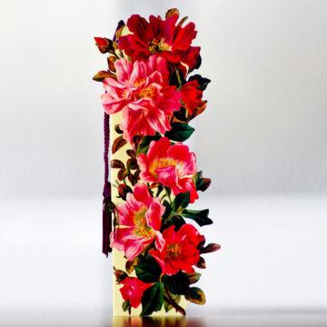 Piros virágok könyvelző