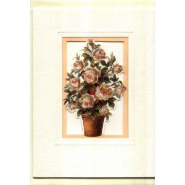 Rózsacsokor - ablakos képeslap