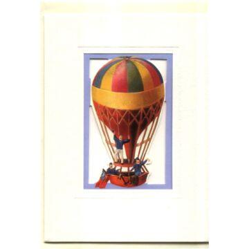 Hőlégballon  jó utat  ablakos képeslap