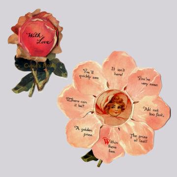 Rózsa kinyitható képeslap