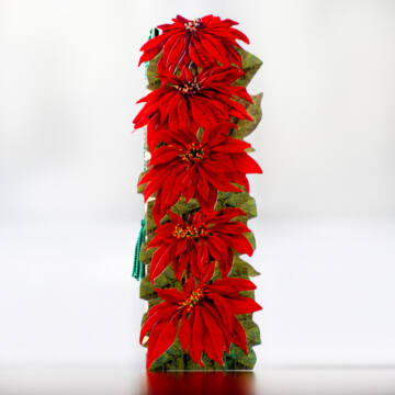 Poinsettia flower bookmark