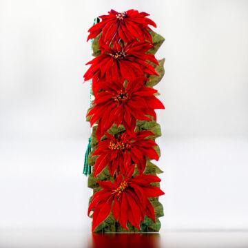 Poinsettia flower bookmark
