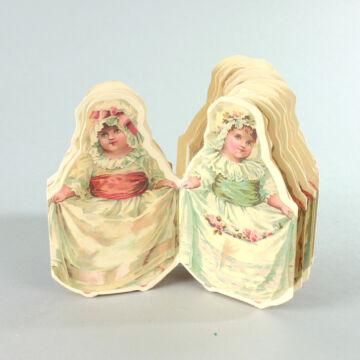 Szép régi Babák  papírfüzér dekoráció