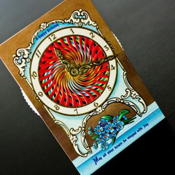 Születésnapi óra - változó képeslap