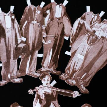 Chaplin  papír öltöztetőbaba szett