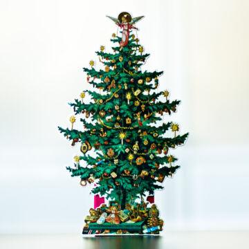Karácsonyfa dekoráció hátsó tasakkal
