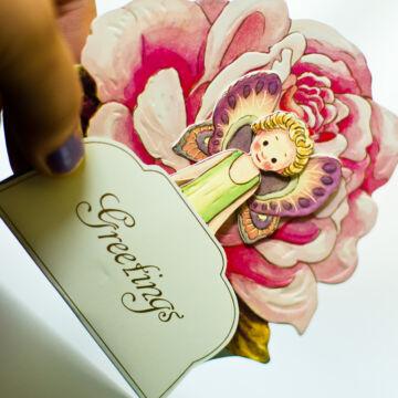 Flower fairies 3D greeting cards