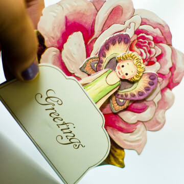 Virágtündérek  3D képeslap