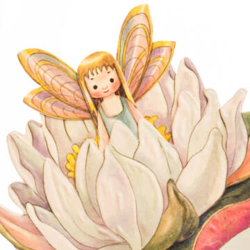 Water Lily fairy 3D card