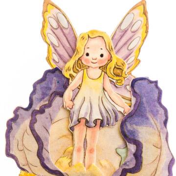 Iris fairy 3D card
