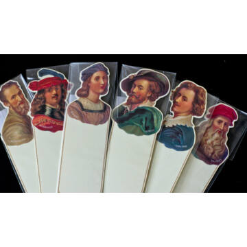 Famous Painters Bookmarks 6 different