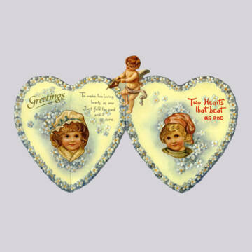 Két szív egyszerre dobog  képeslap