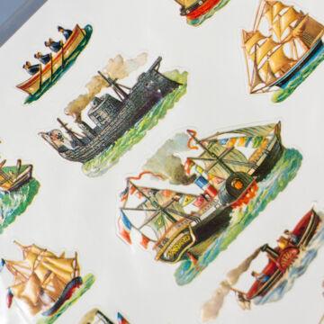 Hajók csónakok vitorlások  23 db matrica
