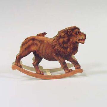Oroszlán képeslap  hintázó állatfigura,  borítékkal