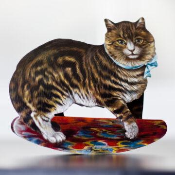 Hintázó macska képeslap borítékkal