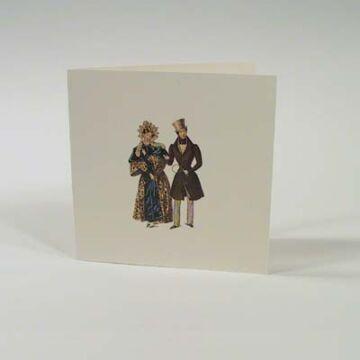 Négyzetes Mini Nosztalgia üdvözlőlap   borítékkal