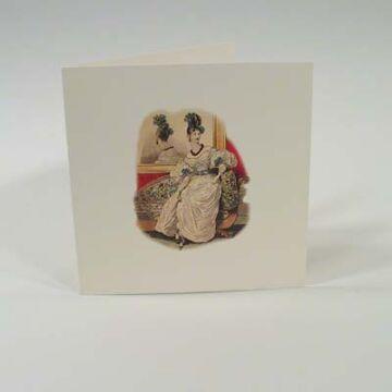 Négyzetes Nosztalgia képeslap  borítékkal
