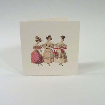 Négyzetes Nosztalgia üdvözlőlap   borítékkal
