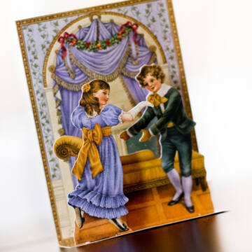Dancing children old 3D card