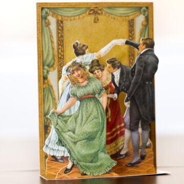 Táncos mulatság - térbeli képeslap
