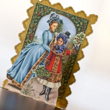 Mistletoe seller 3D card