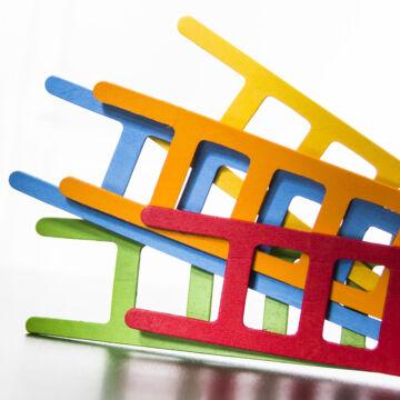 Létra balansz  ügyességi építő játék