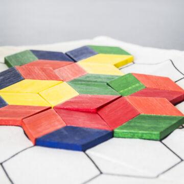 HEX MEX mozaik játék bambusz anyagból