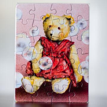 Buborékfújó mackó  mini puzzle  most akcióban