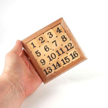 Számos tologatós puzzle bambuszból  15ös puzzle