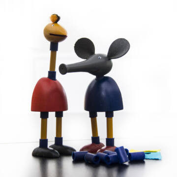 Eduárd és Erna figura építő fajáték