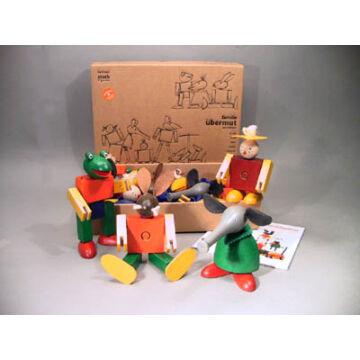 A nyolc tagú család  minősített építő játék fából