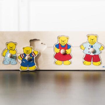 Mackócsalád  fa puzzle kicsiknek  most akcióban