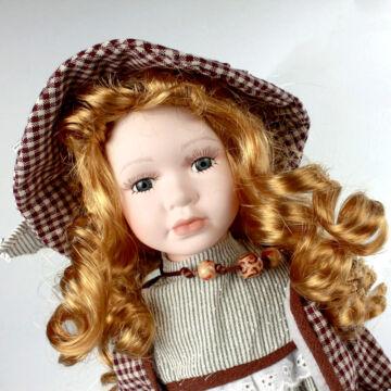 DÉZI, az aranyhajú lány  -  porcelánbaba  - H40cm