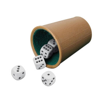 Számos kockadobó játék dobópohárral