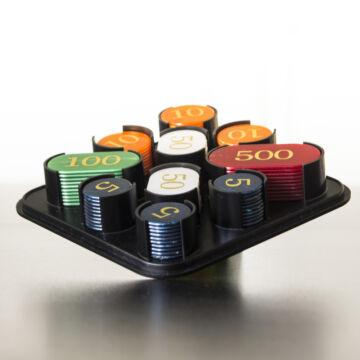 Token Money set for poker game 100 pcs in plastic box