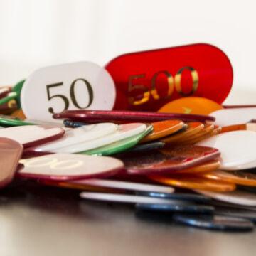 Croupier zsetonkészlet póker kellék 300 db