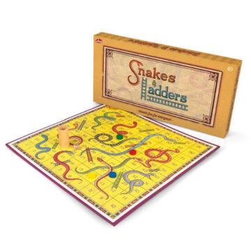 Snake and ledder vintage board game