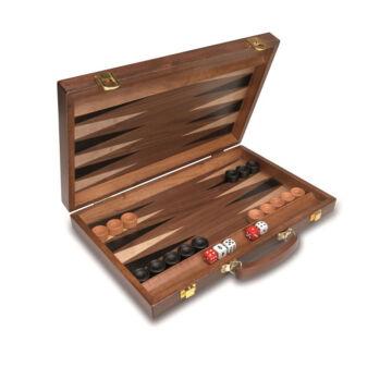 Wooden Backgammon plus in suitcase