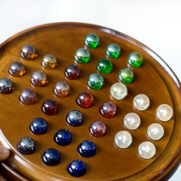 Soliter de Lux wooden game with marbles